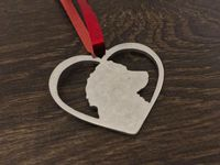 Sprocker Spaniel in your heart christmas tree decoration  brass copper or aluminium